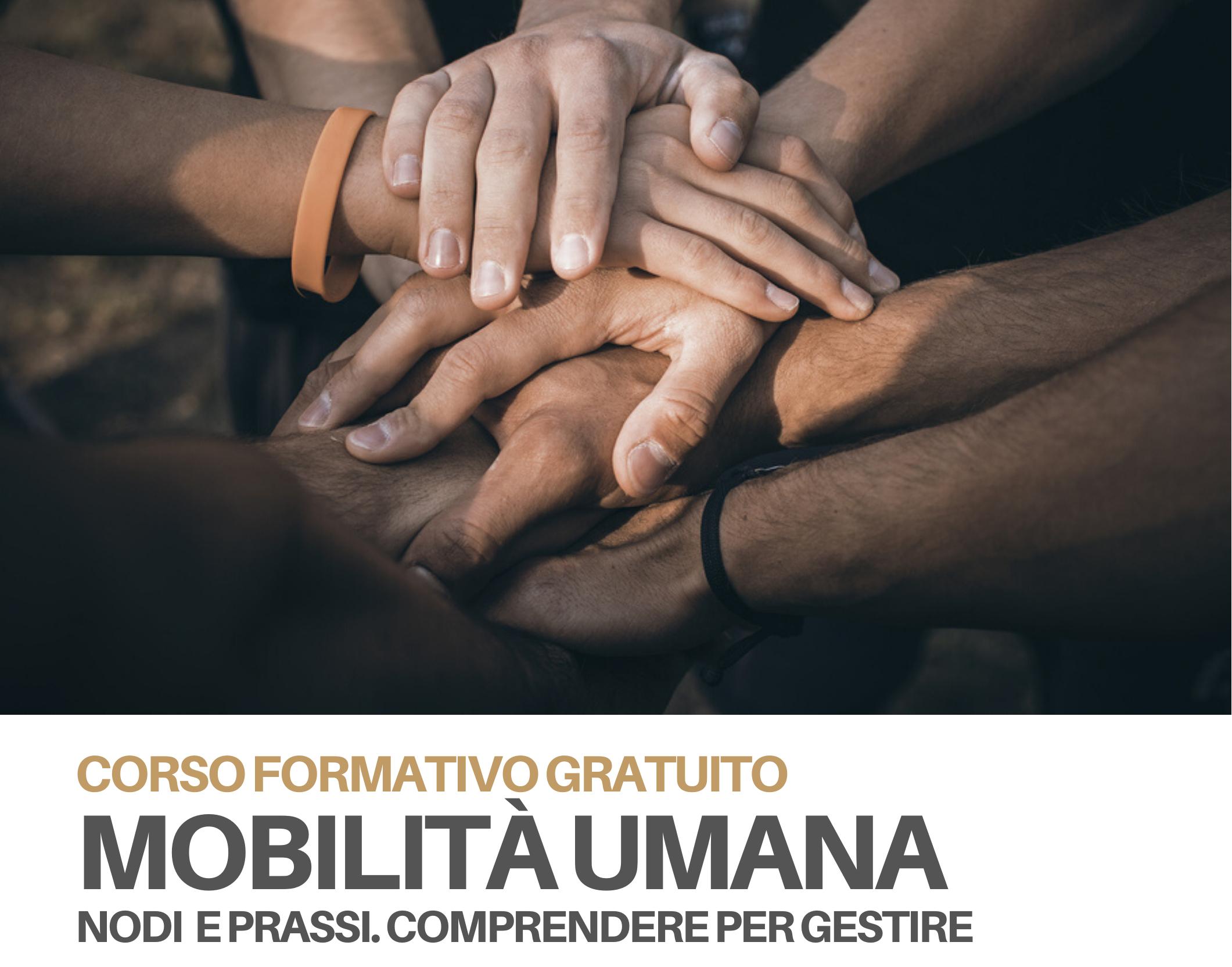 """AL VIA IL CORSO FORMATIVO GRATUITO  """"MOBILITA' UMANA"""""""