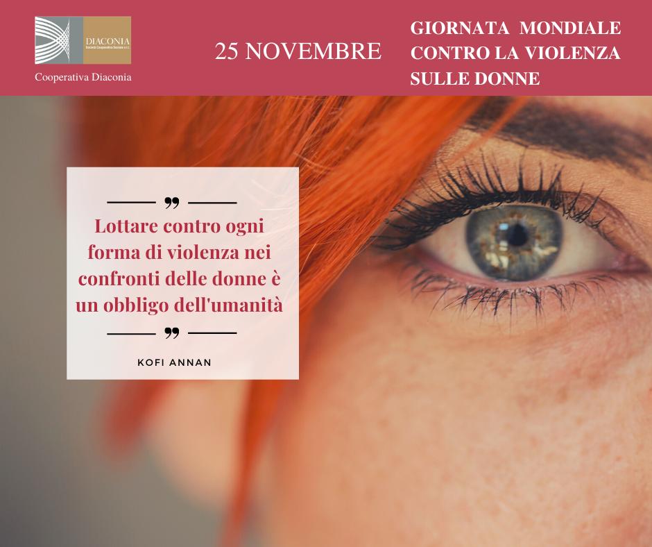 25 novembre: il nostro impegno contro la violenza sulle donne