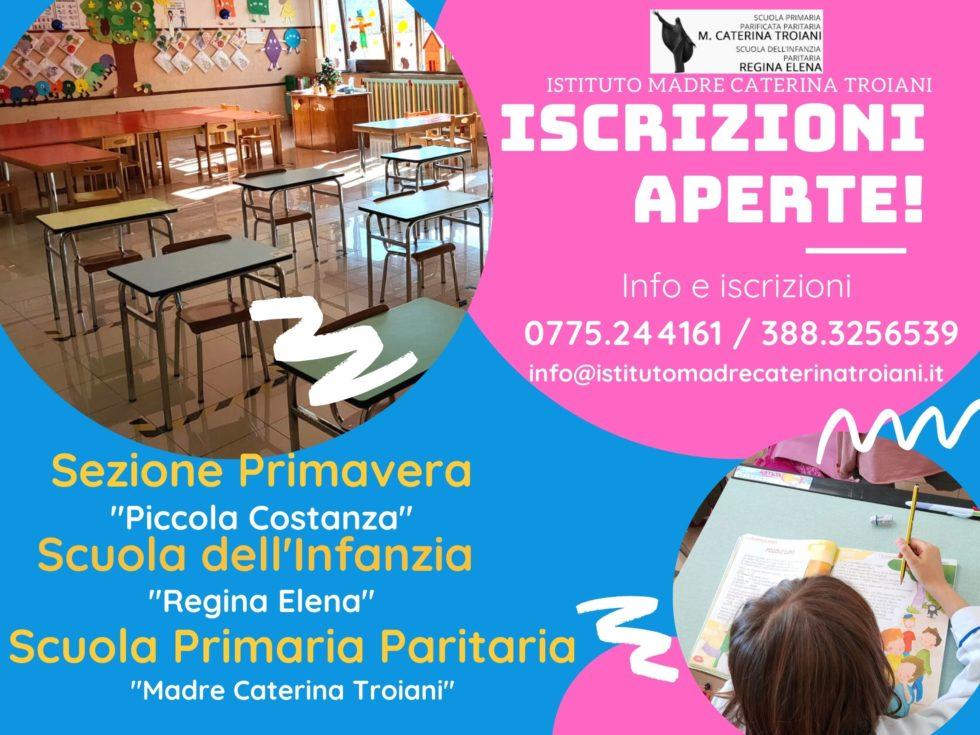Istituto Troiani: aperte le iscrizioni per la scuola dell'infanzia, primaria e sezione primavera